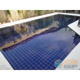 piscina com concreto