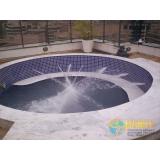 piscina de vinil em l