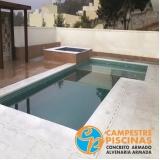 piso para piscina área externa Grajau