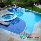 piso para piscina azul Jardim Santa Helena