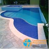 piso para piscina de alvenaria Itupeva