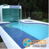 piso para piscina de concreto Paulínia