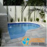 piso para piscina estrutural Jardins