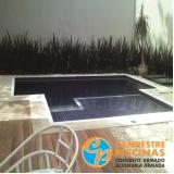 piso para piscina azul