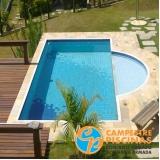 procuro tratamento automático de piscina em com borda infinita Jardins