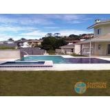 projeto de piscina de concreto com prainha Vila Ré