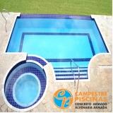 quanto custa cascata de piscina na parede Jardins