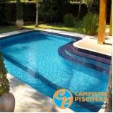 quanto custa piscina de alvenaria com fibra Jardim Guedala