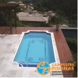 quanto custa piscina de alvenaria com prainha Cachoeira Paulista