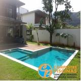 quanto custa piscina de concreto com cascata para recreação Jardins