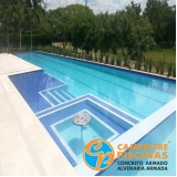 quanto custa piscina de concreto para chácara Santa Branca