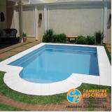 quanto custa piscina de fibra para apartamento Santo Antônio do Jardim