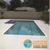reforma de piscina de alvenaria preço Conchas
