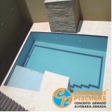 reforma de piscina de fibra borda infinita Interlagos