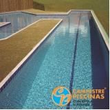 reforma de piscina de fibra com deck Arcadas