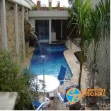 reforma de piscina de vinil com deck Casa Branca
