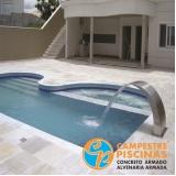 reforma de piscina de vinil grande para clube Vila Gustavo