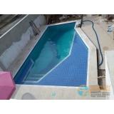 reforma piscina de fibra valor Casa Verde