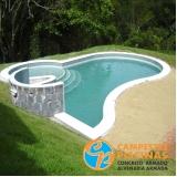 tratamento automático de piscina em com borda infinita Guaianases