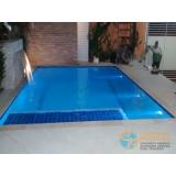 venda de piscina de alvenaria armada com fibra Casa Verde