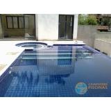 venda de piscina de alvenaria armada no terraço Santos